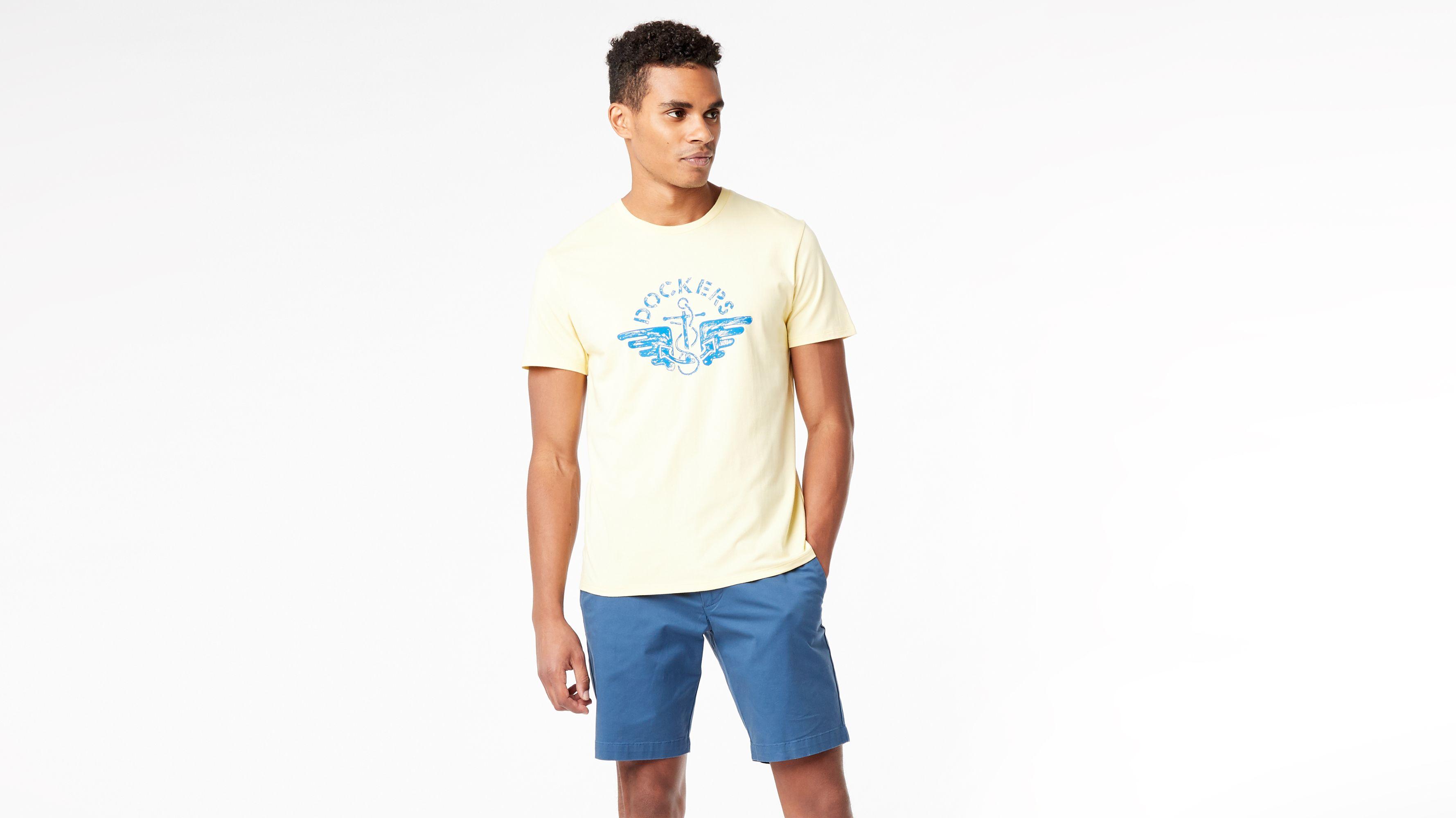 DOCKERS LOGO TEE - T-shirts med print - blue petal/red
