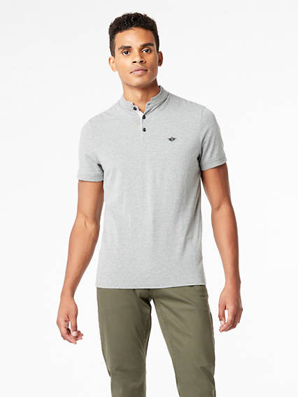 Mock Neck Polo