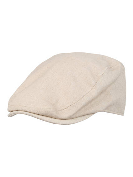 Men's Linen Flat Top Ivy Hat