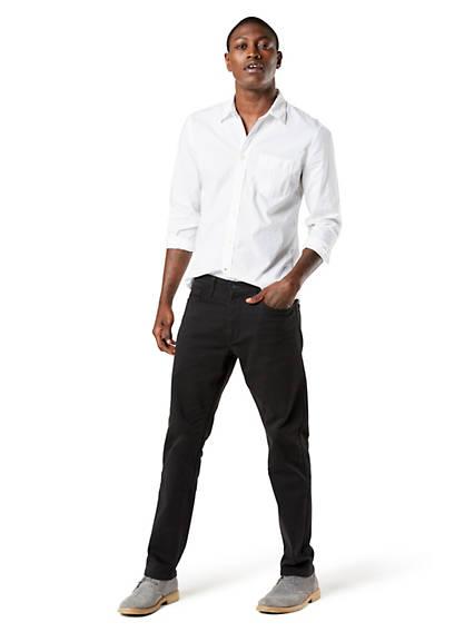 Pantalon coupe jean, coupe athlétique