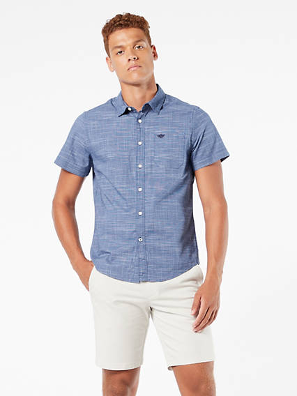 Washed Poplin- Short Sleeve