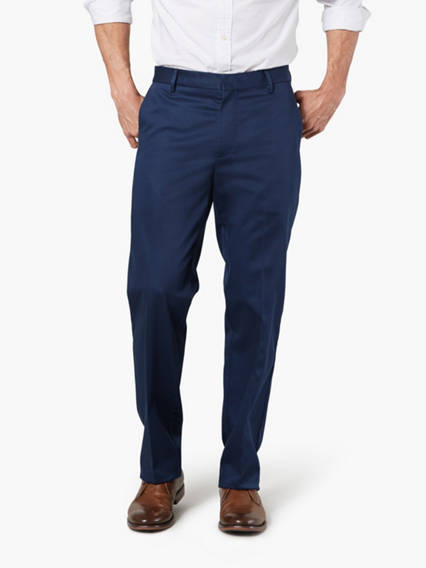 Alpha Creased Chino, Straight Fit - Stretch Sateen