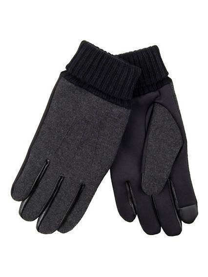 Men's Suede Pieced Stretch Glove