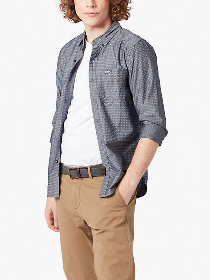 Laundered Poplin Shirt- Dobby