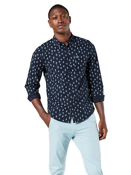 Men's Icon Button-Down Shirt, Slim Fit