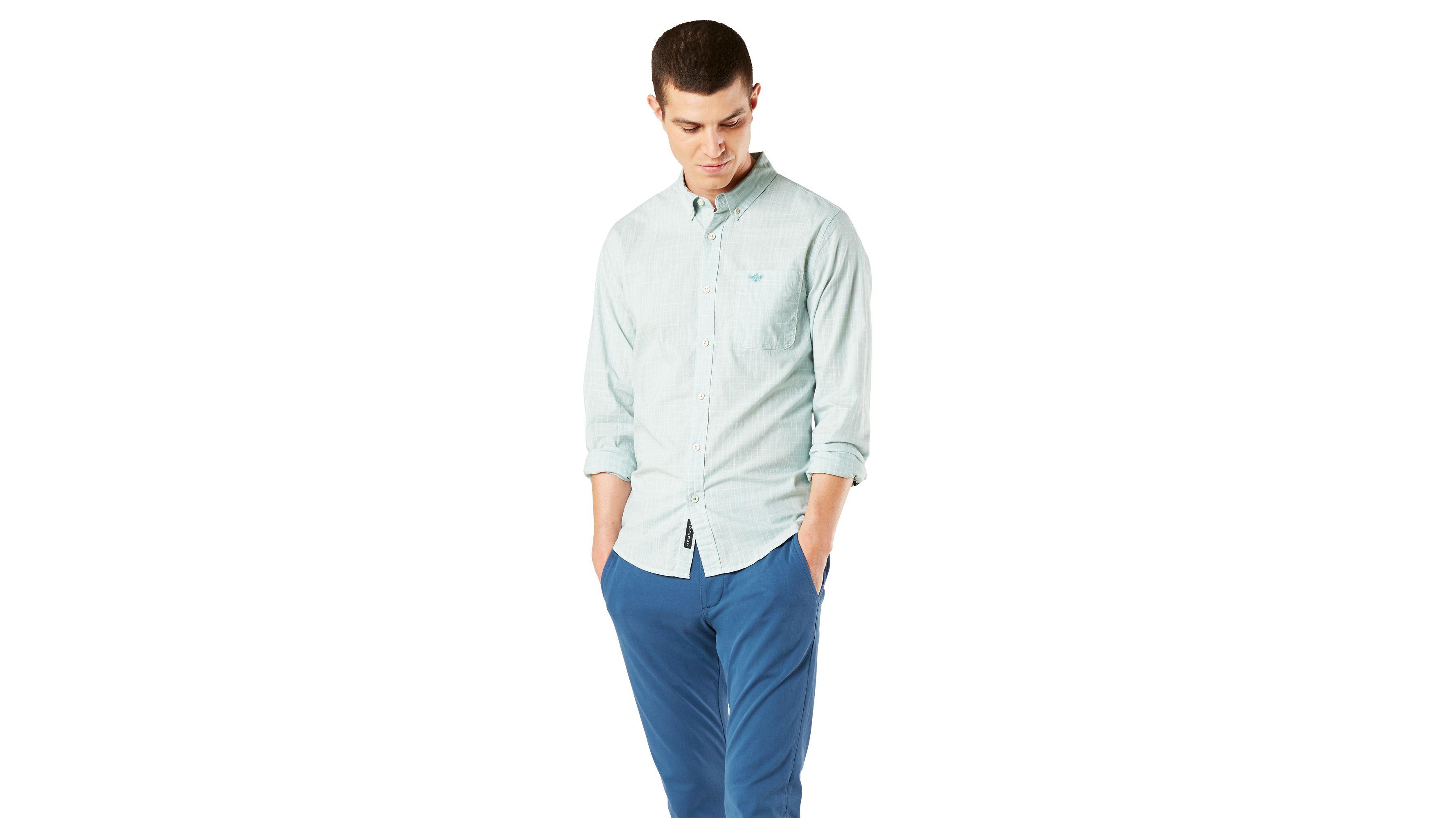 Dockers Mens Modern Classic Long Sleeve Button Front Shirt