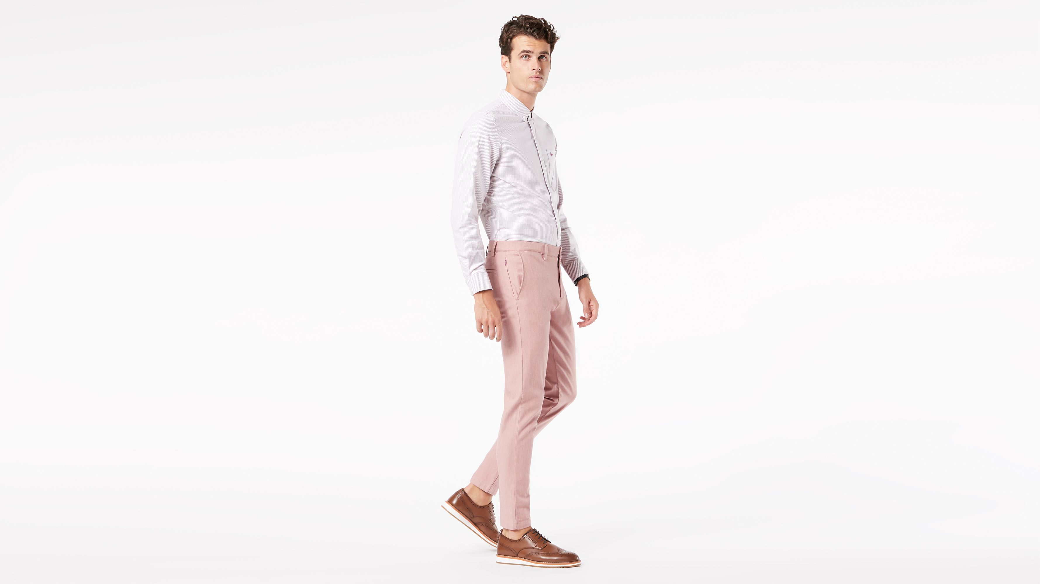 Pink - COST-M NEW 60s Shirt Size: Chest 38`-40`, Leg Inseam 32.75`