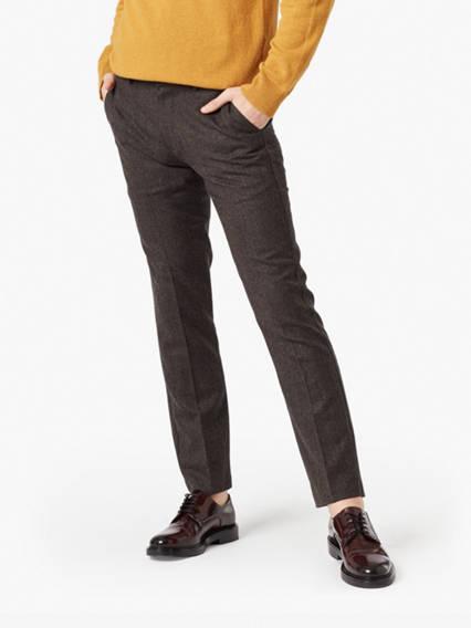 Creased Chino, Slim Fit- Yarn Dye