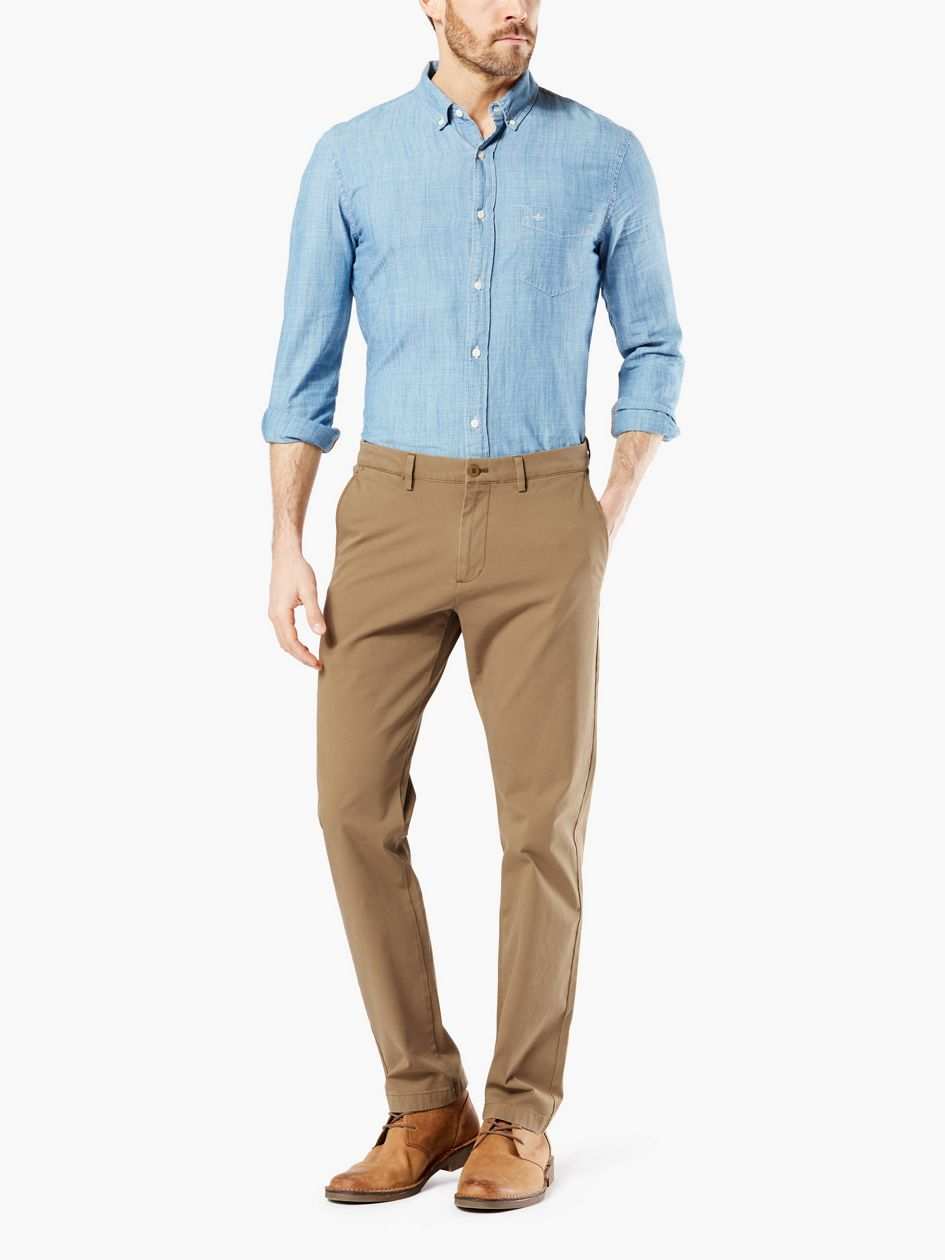 Alpha Chinos, Tapered Fit (big And Tall) - Tan 852980000 | Dockers® US