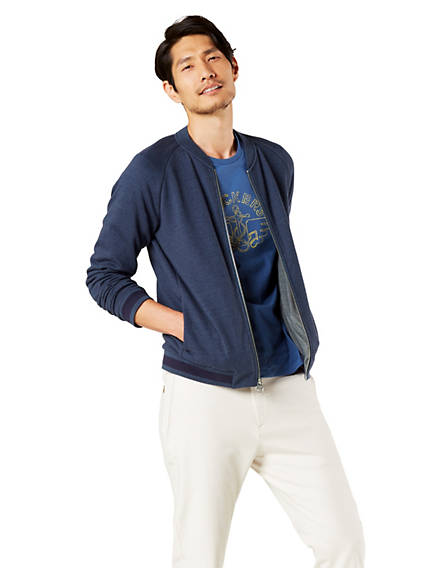 Men's Knit Bomber Jacket