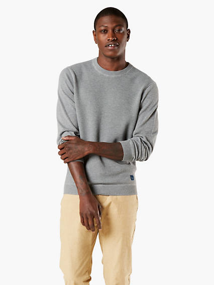 Men's Textured Crewneck Sweater