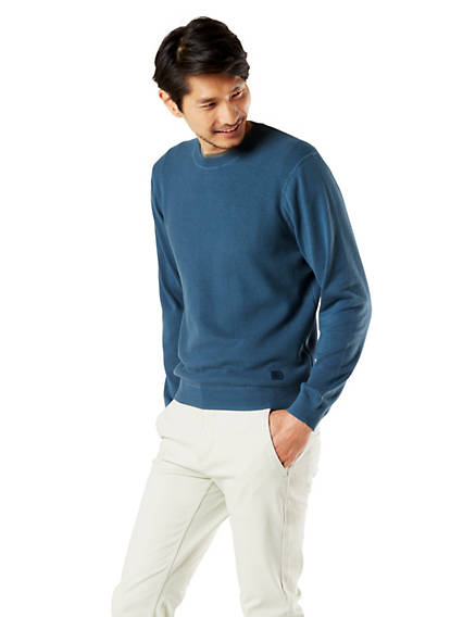 Men's Textured Crewneck Sweater
