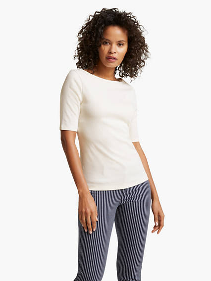 Women's Mid Sleeve Boatneck Shirt