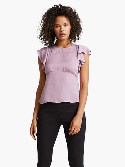Women's Ruffle Sleeve Shirt