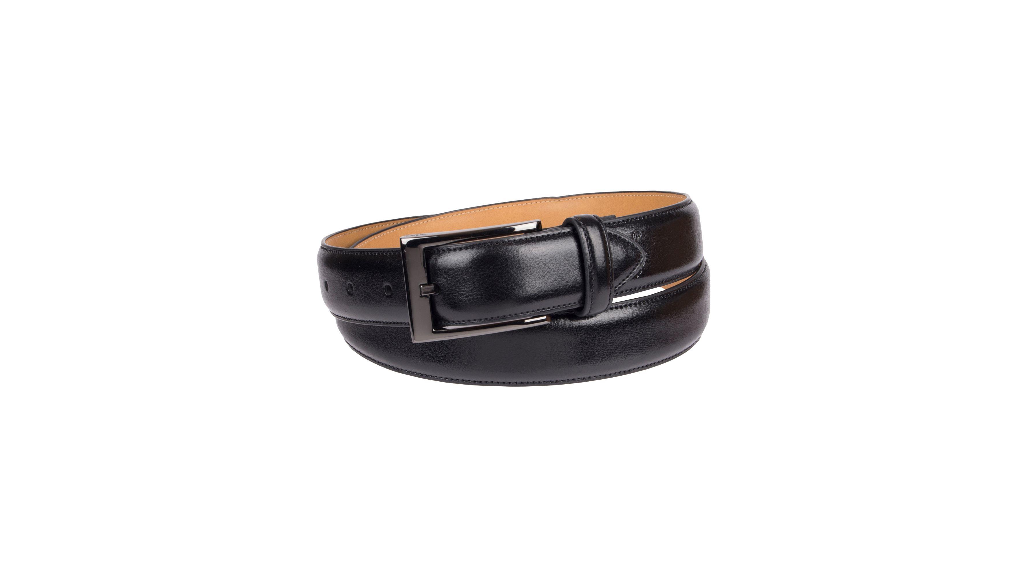 Men/'s Black Belt Bonded Leather Size XXXL 50-52 Dress Fashion Belt Italy Style