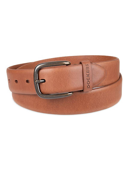 Men's Leather Tab Belt