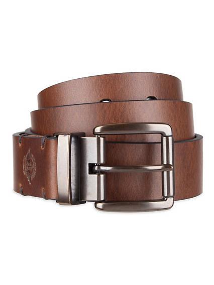 Men's Leather Shankless Reversible Belt