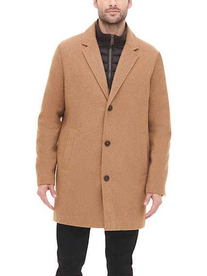 Men's Wool Coat with Zip Liner