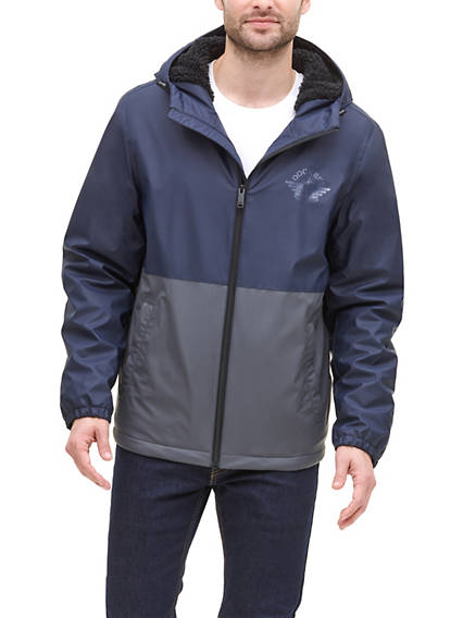 Men's Sherpa Lined Rain Jacket