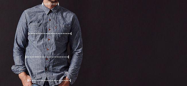 Men's tops measurements