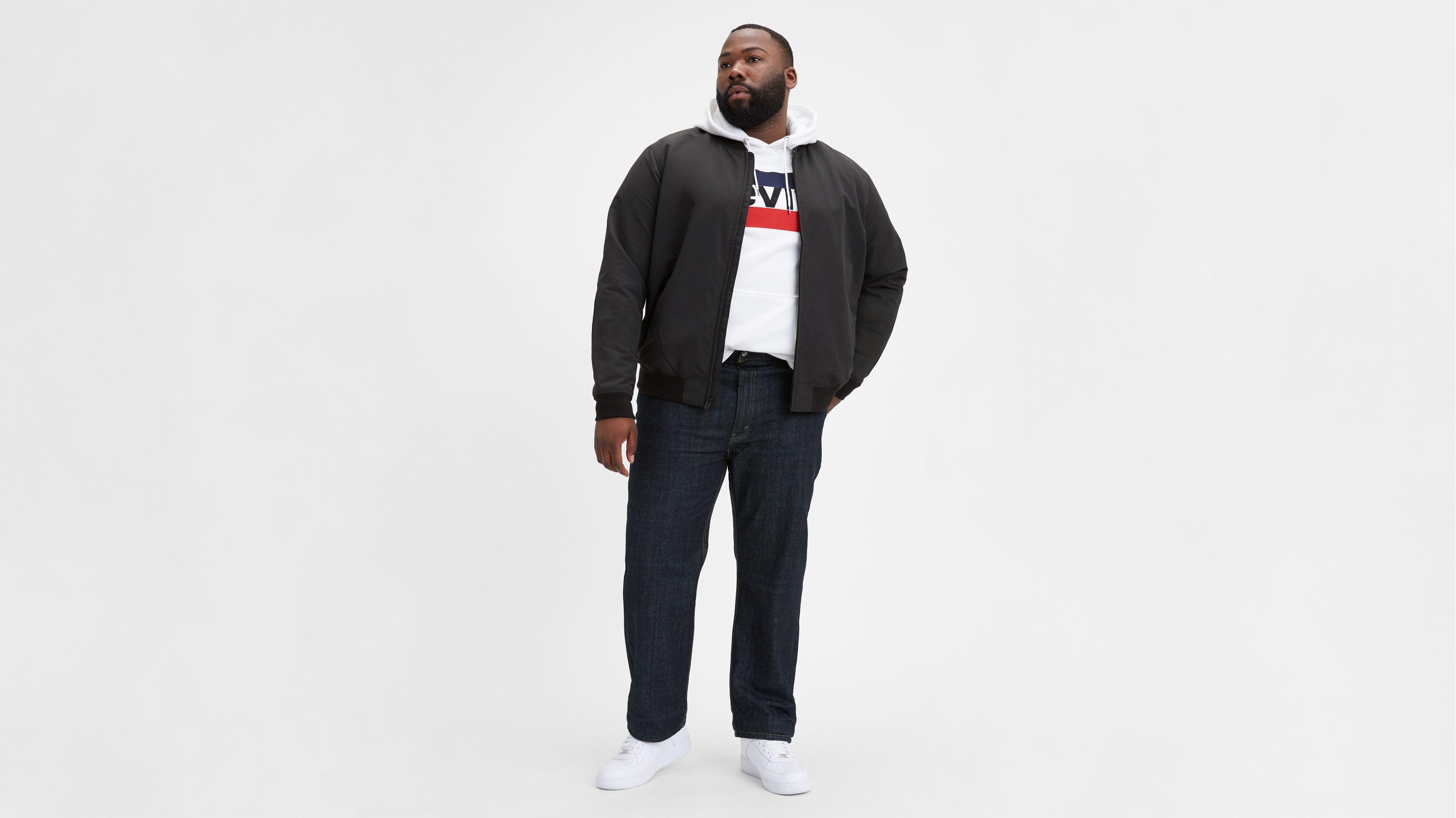 Mens Fashion Big and Tall Loose Straight Denim Short
