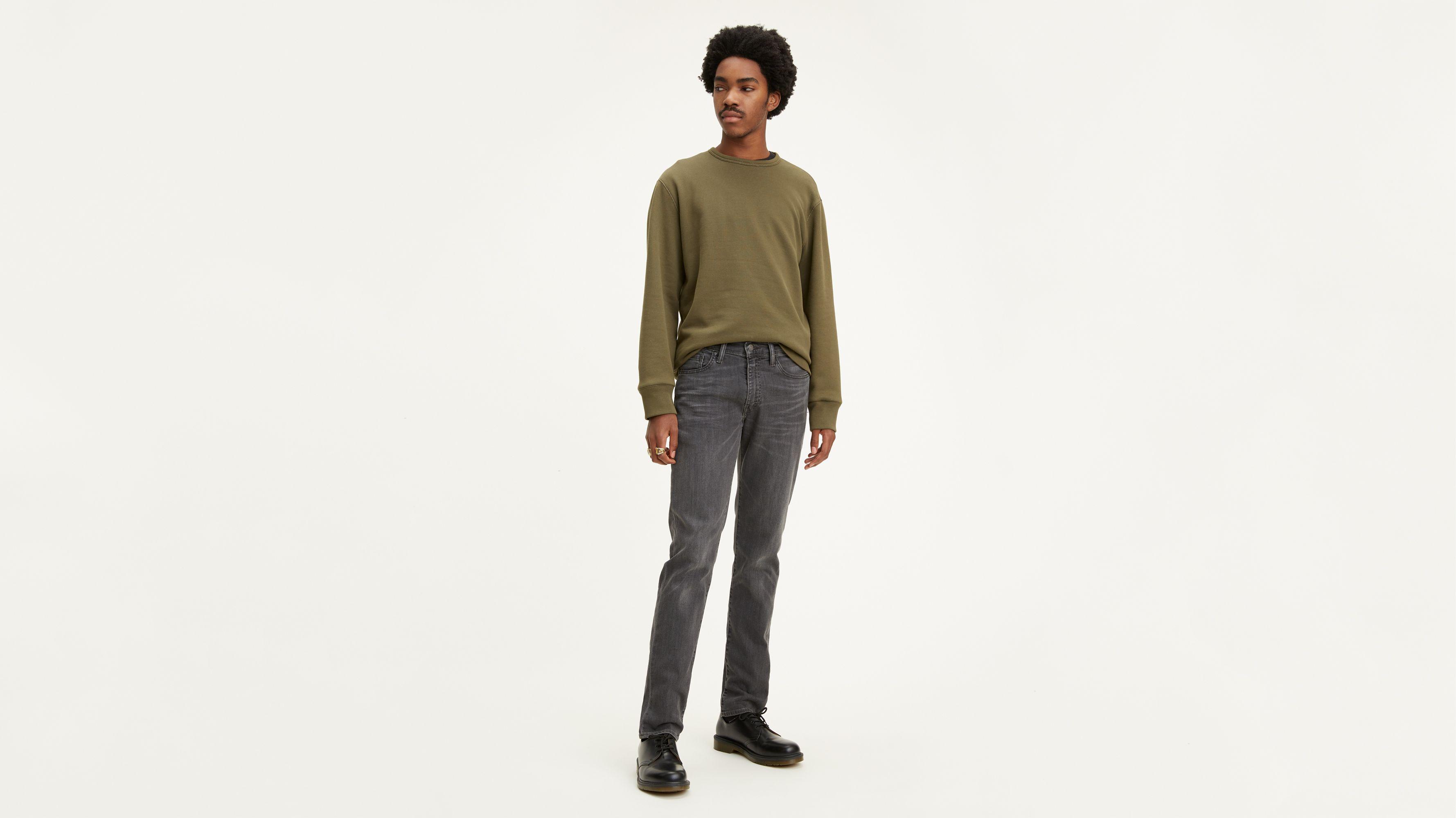 mens straight cut grey jeans 29 inch leg