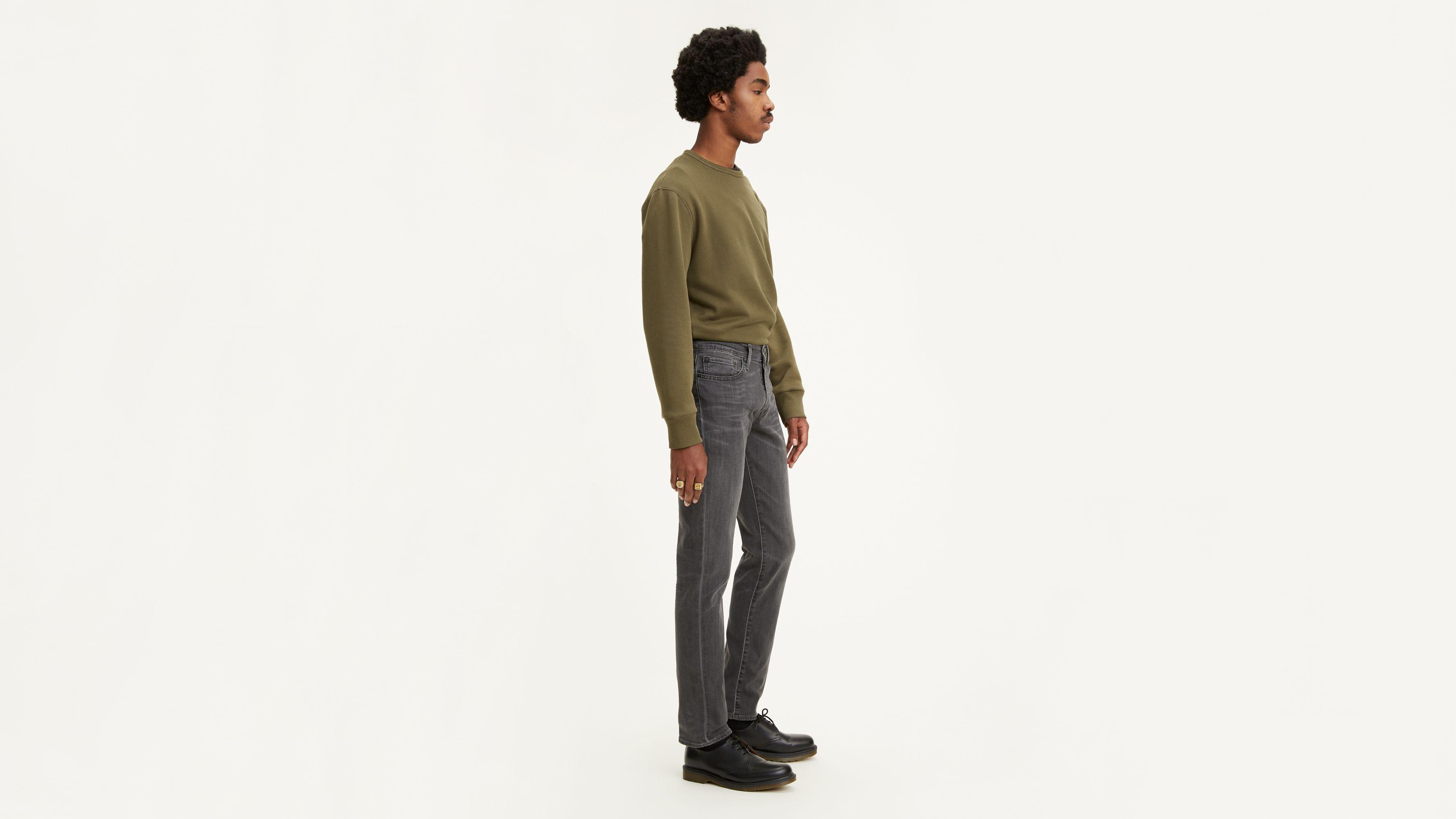 Fseason-Men Basic Style Trousers Relaxed-Fit Denim Pants Curling Jeans