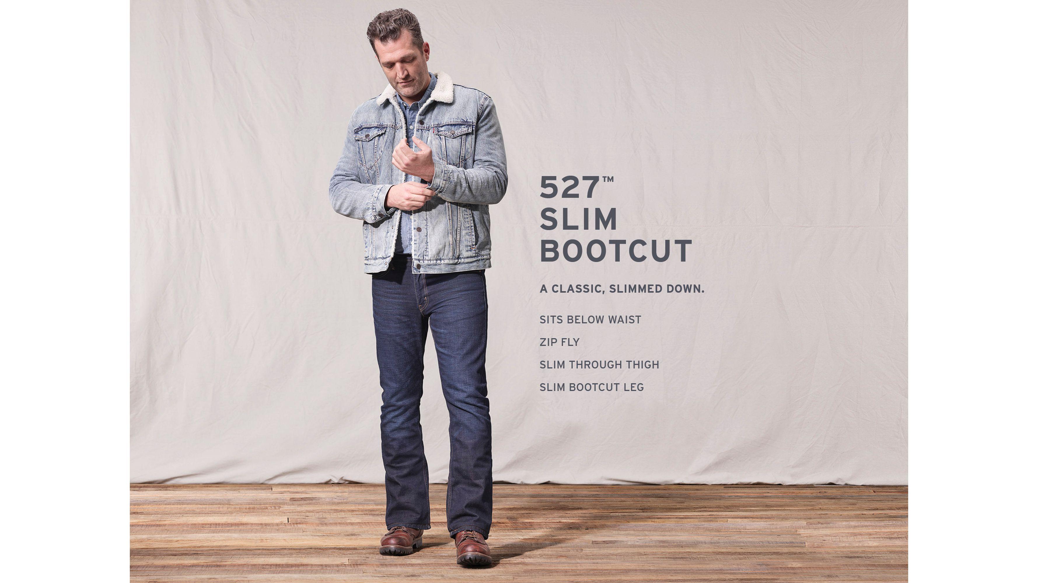 527™ Slim Boot Cut Levi's® Flex Men's Jeans Black | Levi's® US