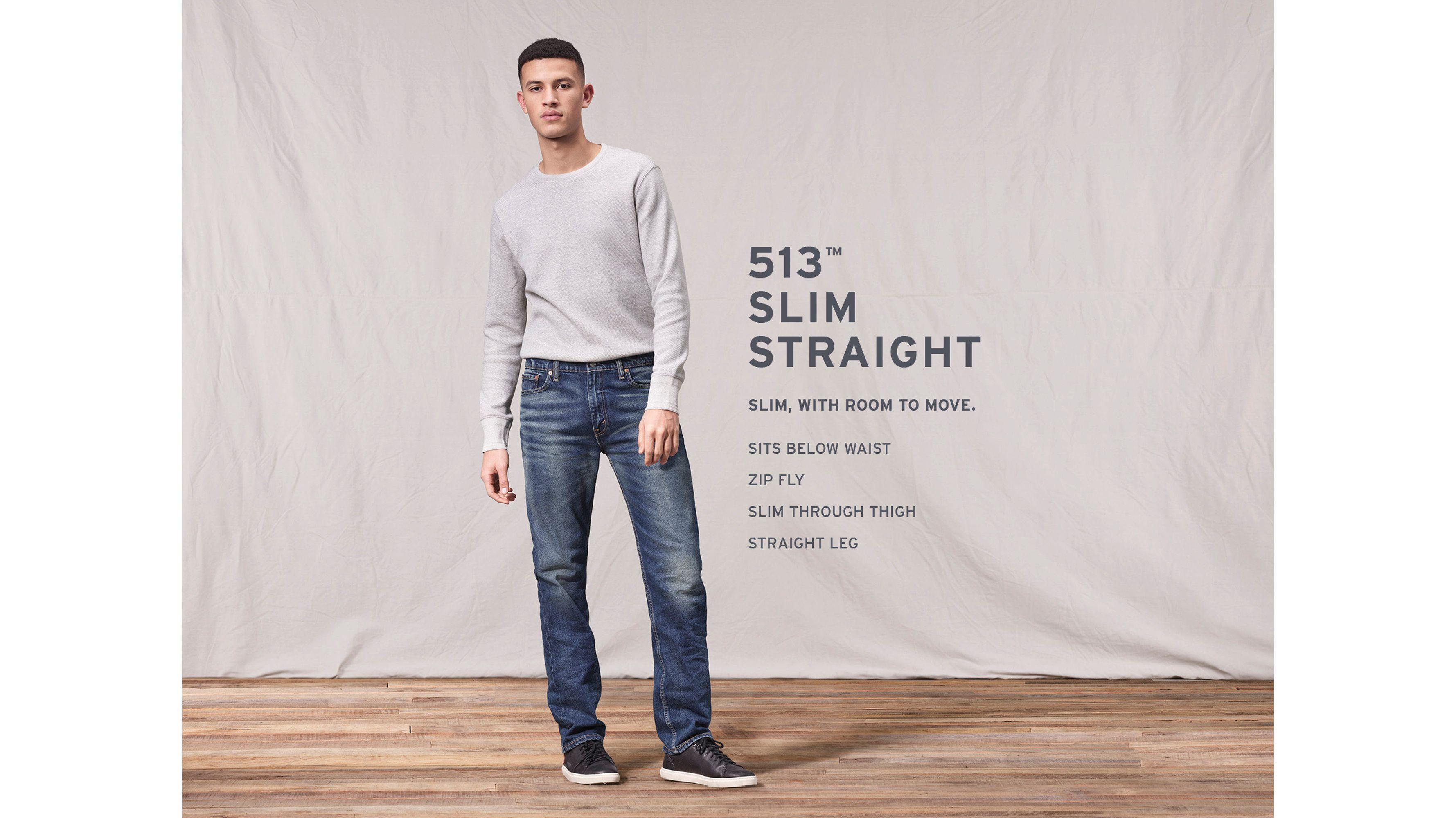 513™ Slim Straight Jeans - Black
