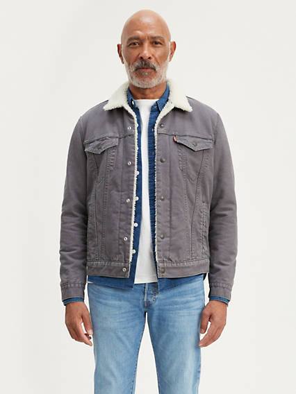 Canvas Sherpa Trucker Jacket