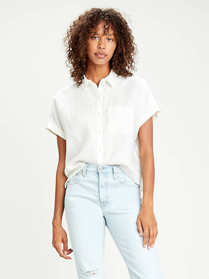 Dolman Sleeve Buttondown Shirt