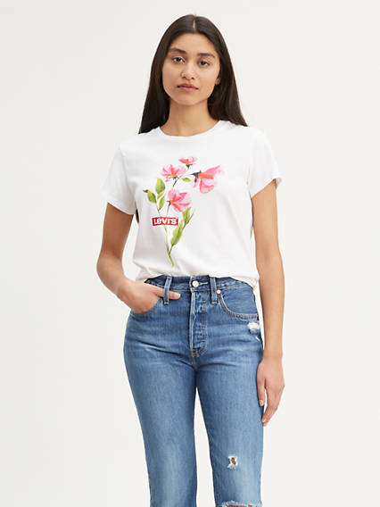 Flower Graphic Tee Shirt
