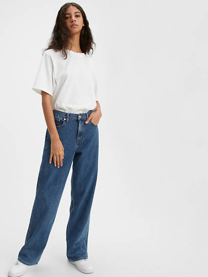 High Loose Straight Jeans