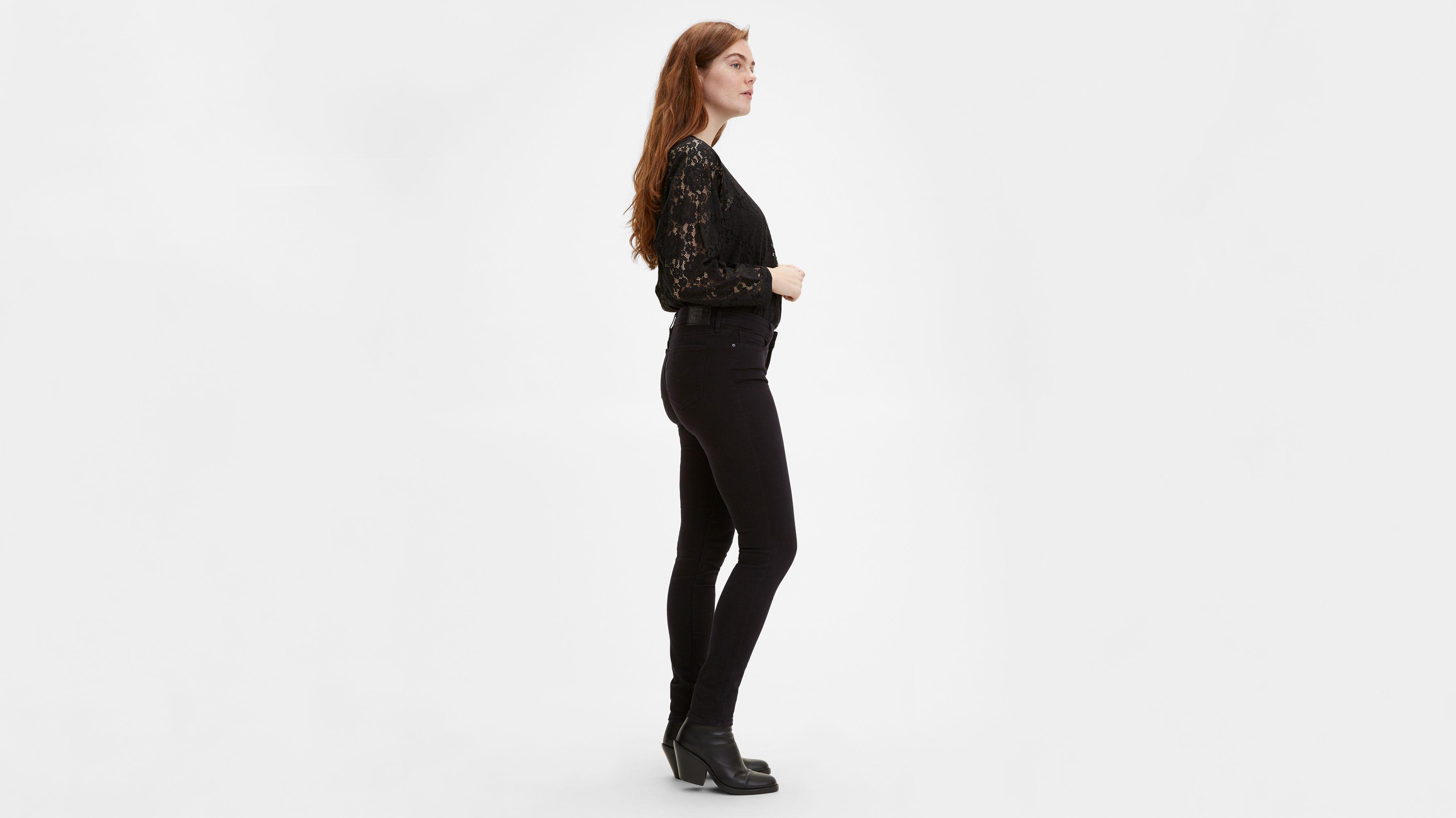 Donna Nuovi Vita Alta Super Stretch Skinny Jeans Nero Taglie 6-12 Gamba 31-33