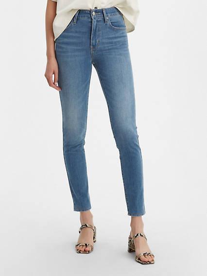 721 Jean filiforme taille haute