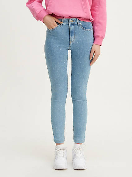 721 High Rise Skinny Polka Dot Women's Jeans