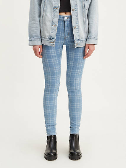 721 High Rise Skinny Plaid Women's Jeans