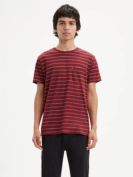Classic Striped Pocket Tee Shirt