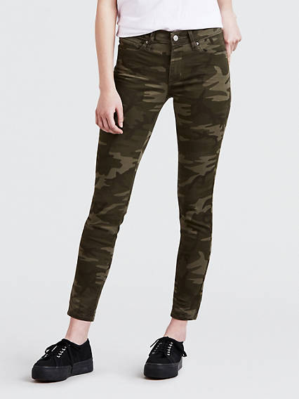 Camo Print 711 Skinny Ankle Jeans