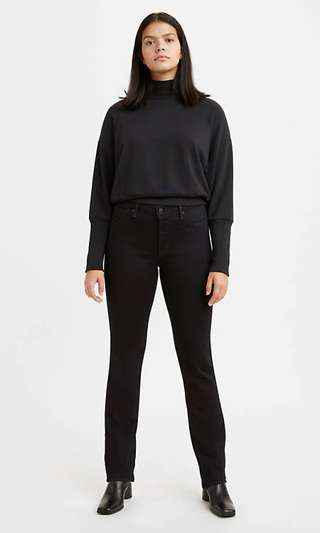 314 Shaping Straight Women's Jeans - Black | Levi's® US