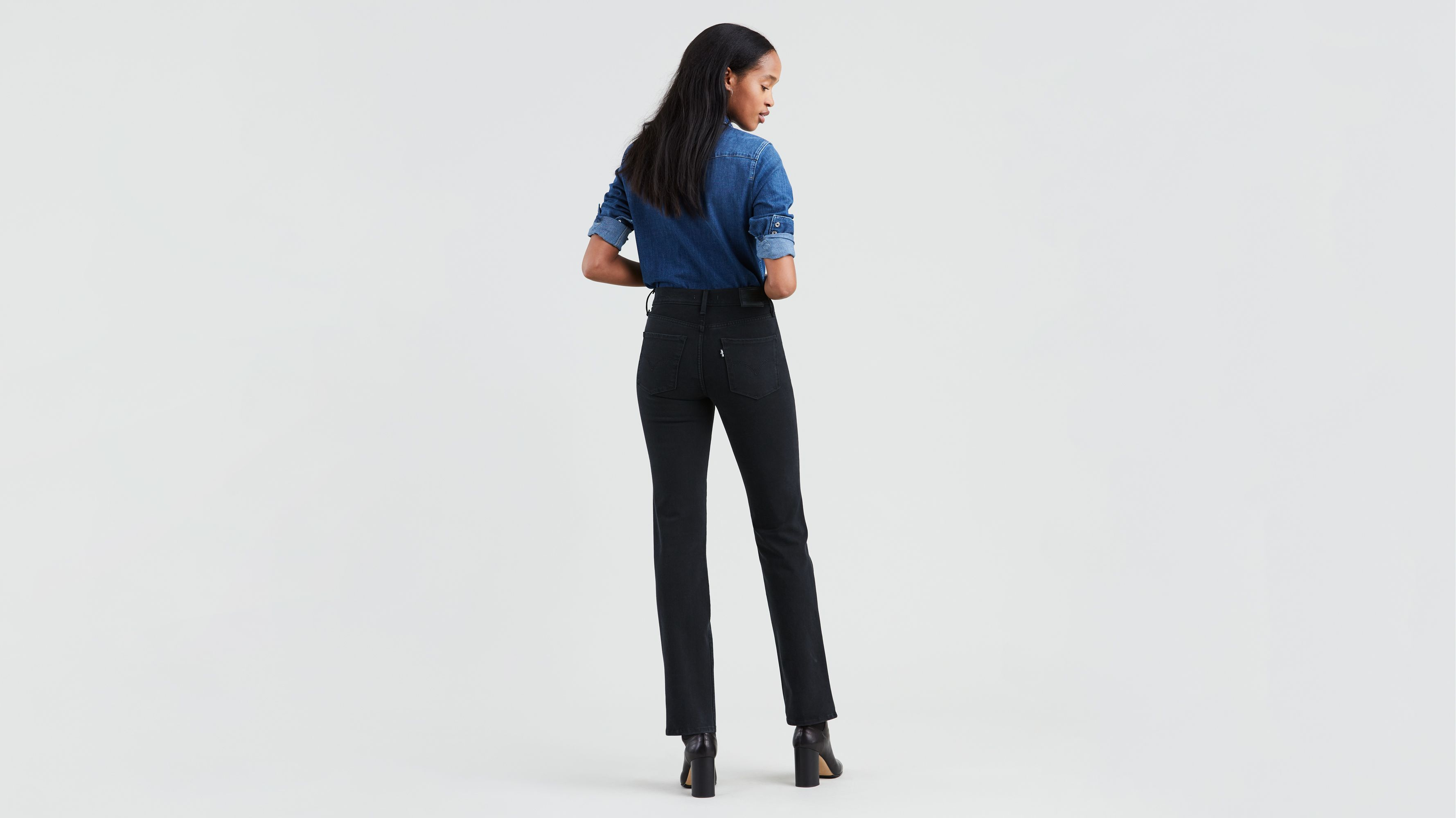 314�?Shaping Straight Jeans