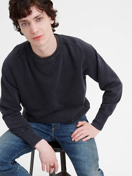 60s 70s Men's Jackets & Sweaters Levis Bay Meadows Sweatshirt - Mens M $165.00 AT vintagedancer.com