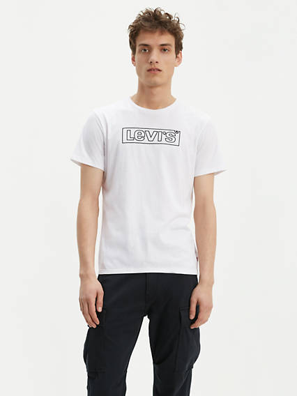 Box Tab Logo Outline Tee Shirt