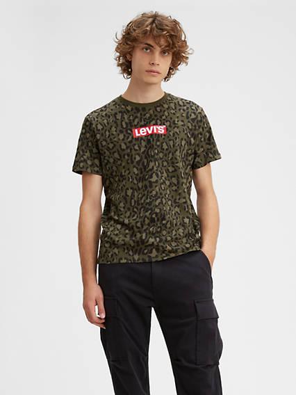 Camo Box Tab Graphic Tee Shirt