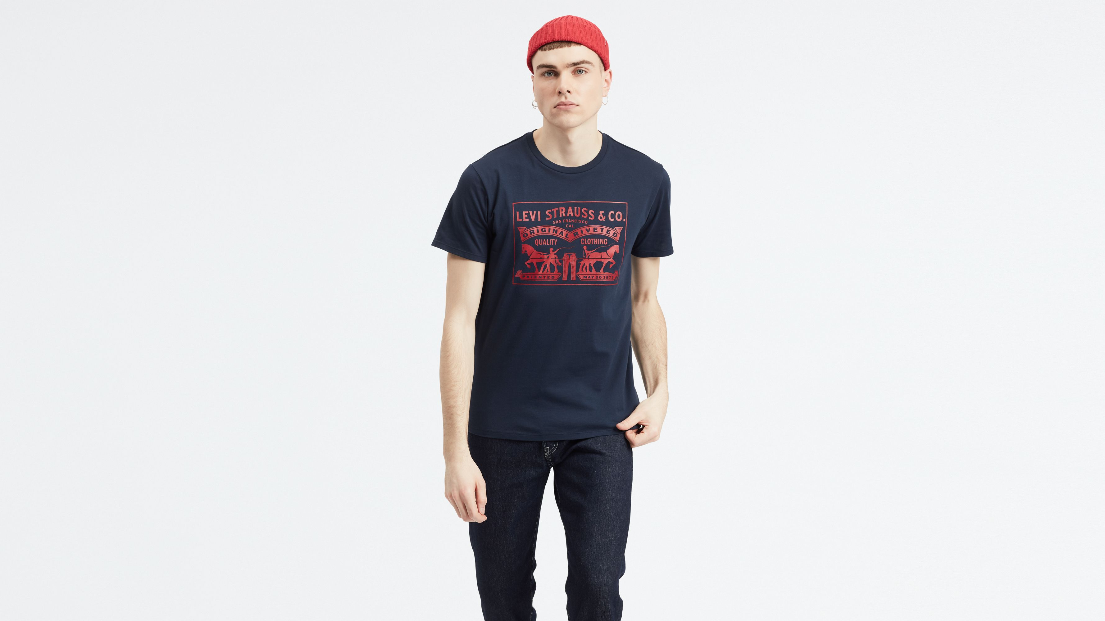 Levis Two-horse Pull Graphic Tee Shirt