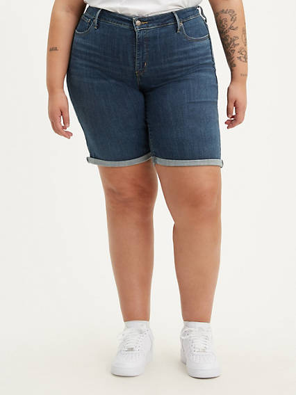 Shaping Bermuda Womens Shorts (Plus Size)