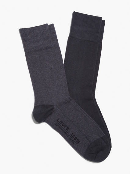 Levi's® 2 Pack Solid Regular Cut Socks