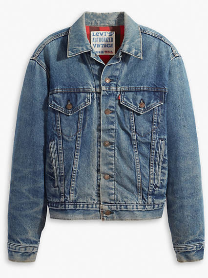 Authorized Vintage Trucker Jacket with Flannel
