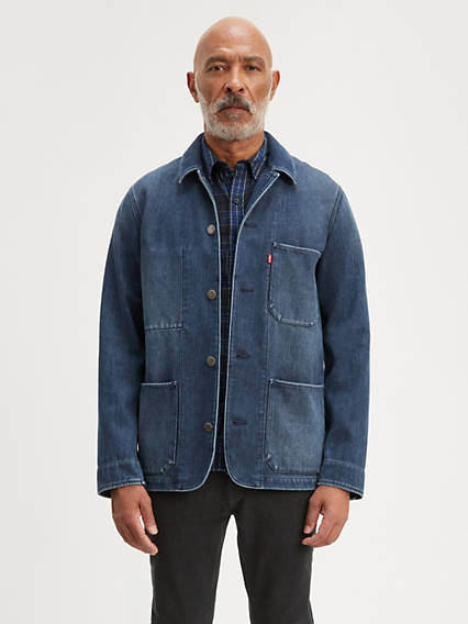 1910s Men's Working Class Clothing Levis Engineers Coat - Mens L $128.00 AT vintagedancer.com