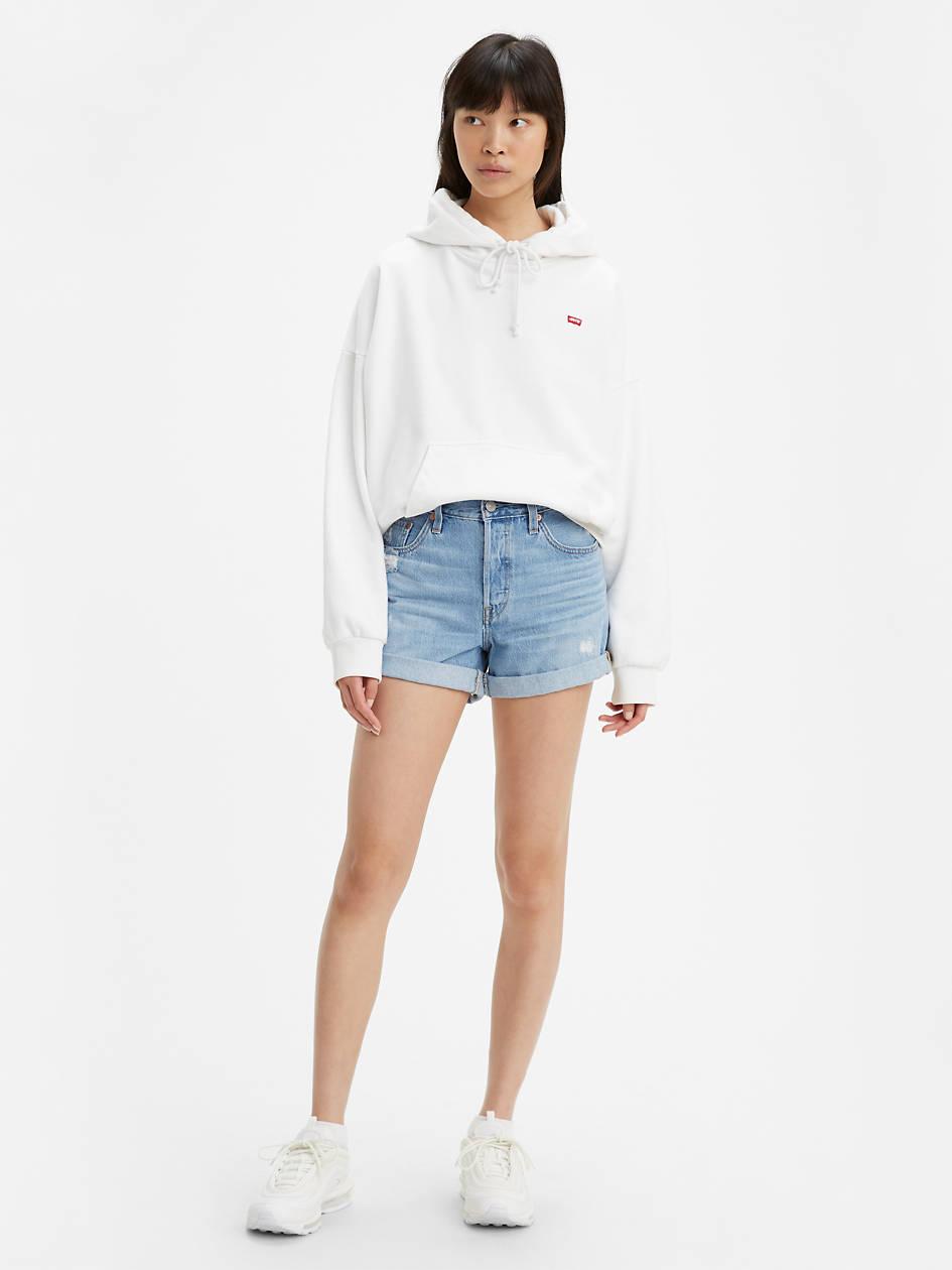 501® Long Womens Shorts - Light Wash   Levi's® US